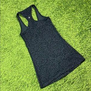 Lululemon Athletica Black Floral Print Tank 2